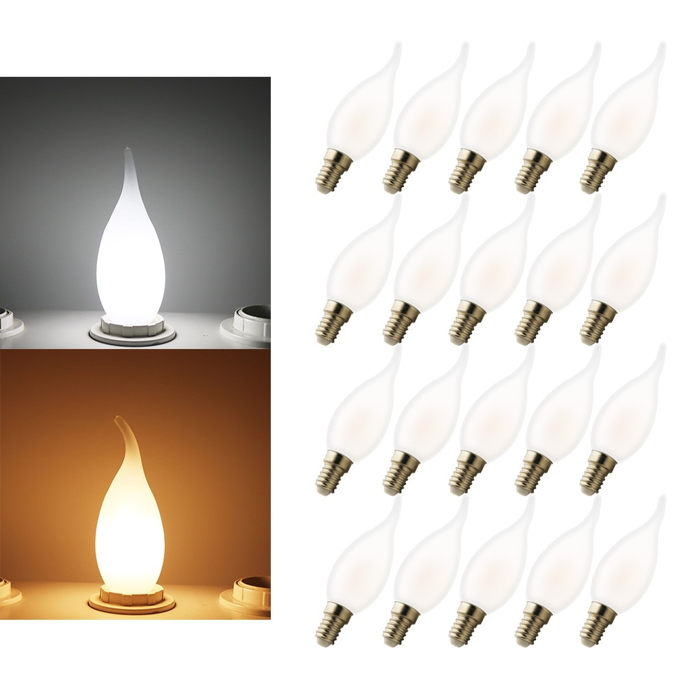 E14 conduziu o bulbo e14 c35 5 w 220 v fresco/branco morno, e14 conduziu a lâmpada 220 v, conduziu a lâmpada de edison 20 pces