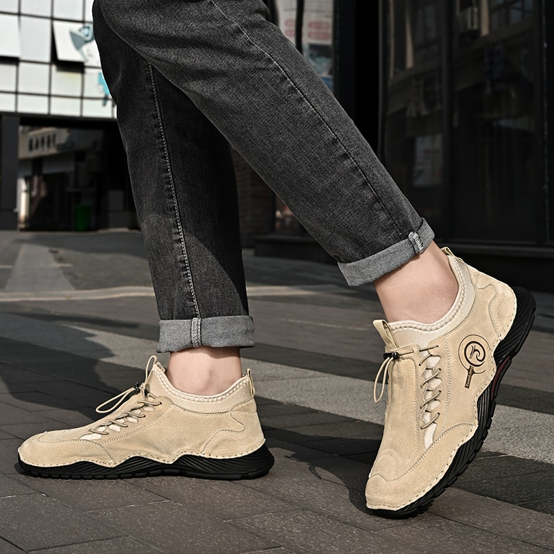 Plus Size Suede Leather Men Shoes Breathable Casual Shoes Flats Quality Comfort Outdoor Driving Shoes Men Zapatos Hombre breathable outdoor shoes men breathable lace up casual shoes flats quality comfortable men shoes zapatos hombre