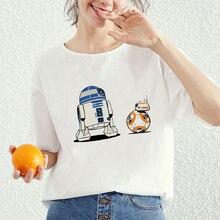 Lei SAGLY Star Wars T-shirt femme drôle hauts Porgkins Jedi T-shirt Anime imprimé à manches courtes mode Causual haut dété