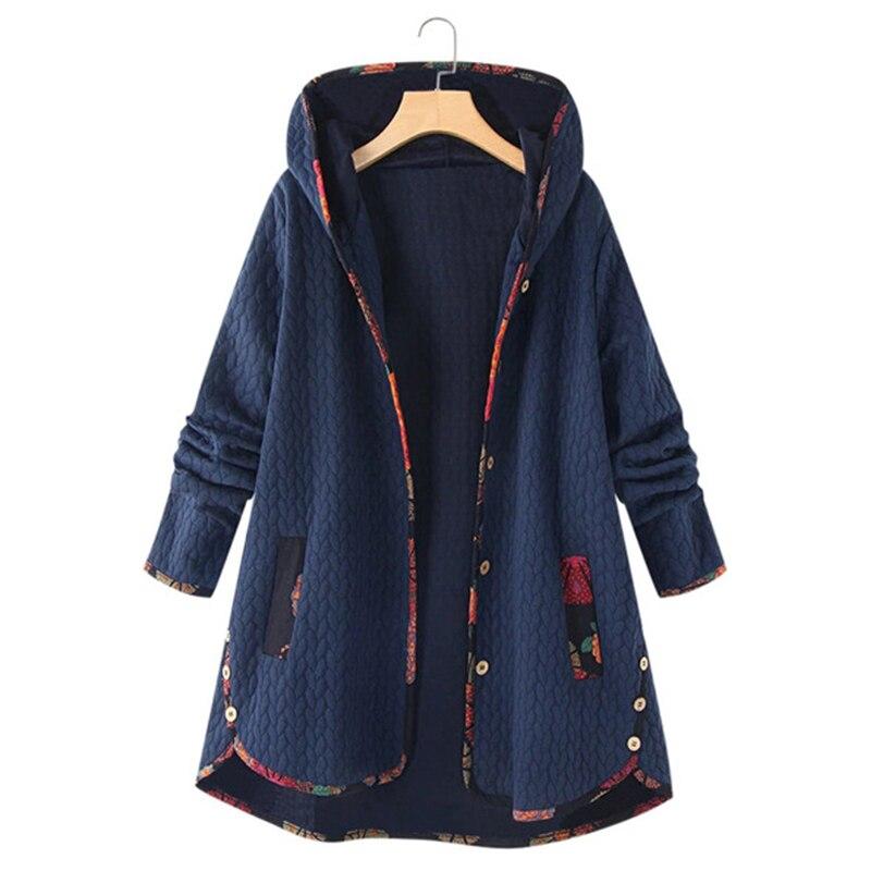 Abrigo con capucha de Cachemira para Mujer, chaqueta gruesa de manga larga...