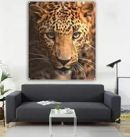 lion square hanging flag lion big flaglion wall painting lion decorative painting