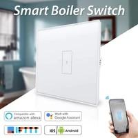Interrupteur mural tactile  wi-fi  220V  pour maison connectee  Tuya  EU  aucun fil neutre requis  compatible avec Alexa et Google Home