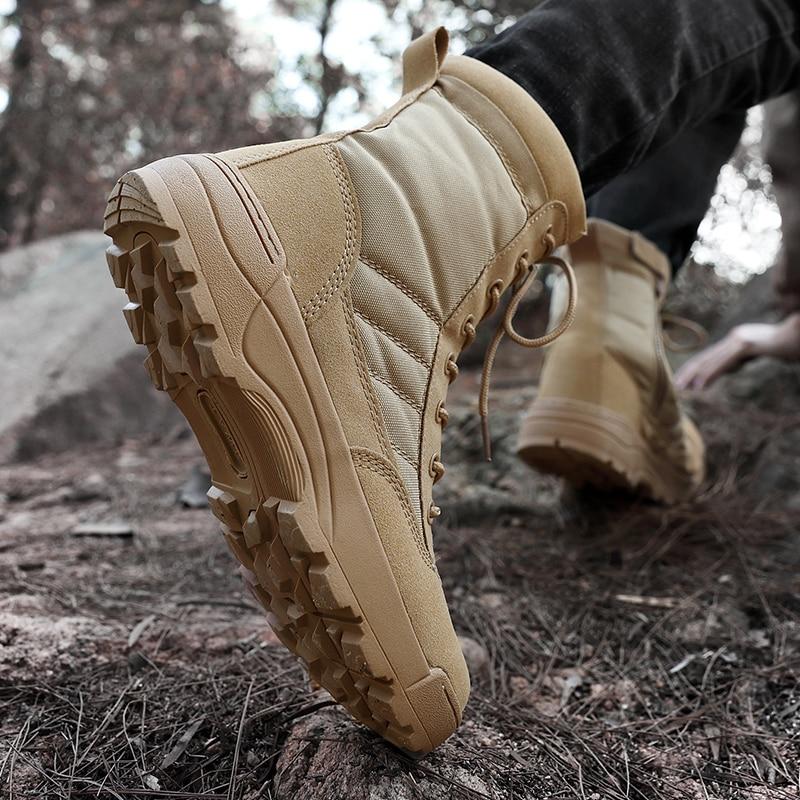 Купить с кэшбэком 2021 New high quality military Flock Desert boots men shoes tactical combat boots delta coturnos masculino militar botas 40-46