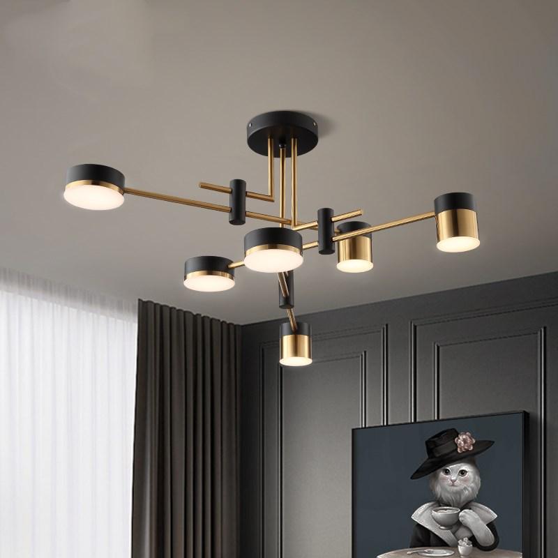 Artpad iluminación LED de araña sala de estar moderna decoración de cocina accesorios de iluminación de Metal para interiores 4/6/8 cabezas 3 colores regulables