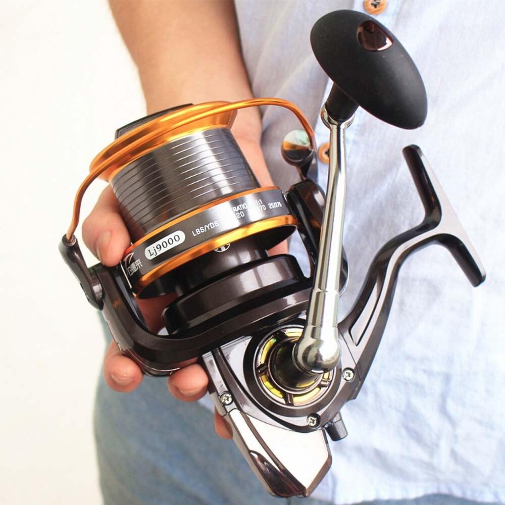 FDDL 12+1 Bearing Balls LJ 1000-9000 Aluminum alloy ALL metal Reel Fishing Reel Trolling Reel Metal Fishing Reels Spinning reel