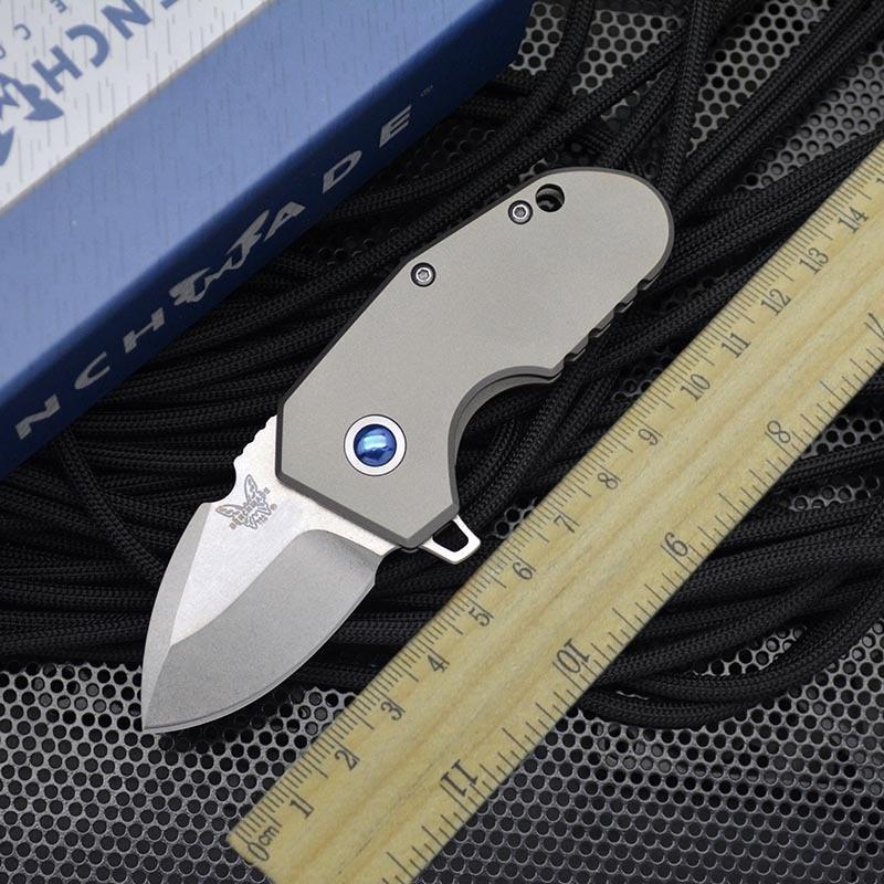Benchmade 756 Mini Folding Knife Titanium Alloy M390 Powder Steel High Hardness Pocket Knives EDC Defenses Tool HW341 enlarge