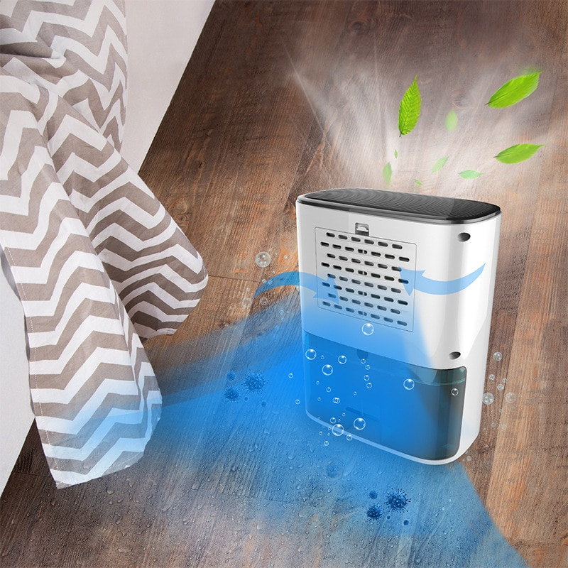 Dehumidifier 1200ml Low Energy Consumption Cleaning Function Auto-off Timer Against Moisture Absorbers Water Removal Machine enlarge