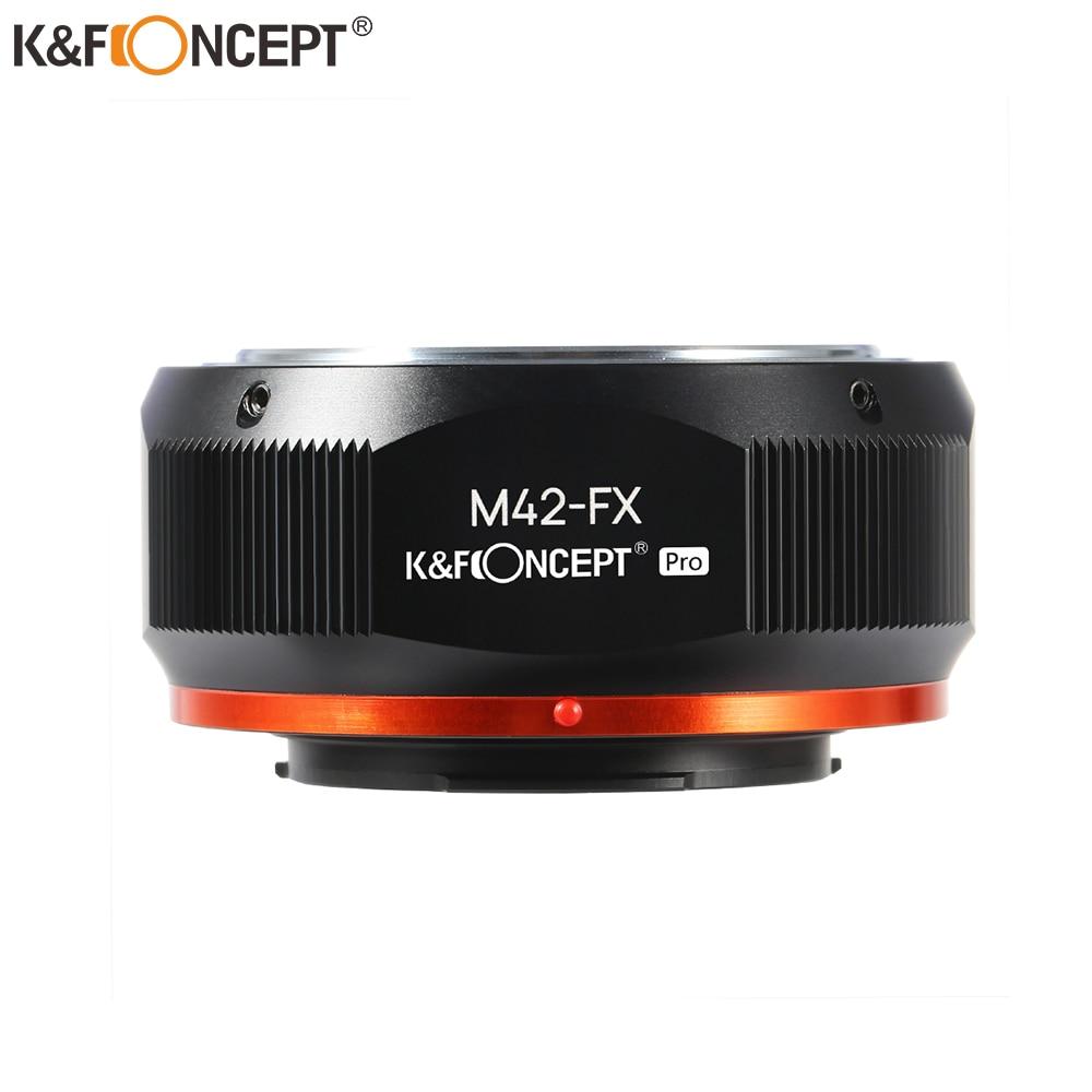K&F Concept M42 Lens to FX Mount Adapter for M42 Screw Mount Lens to Fujifilm Fuji X-Series X FX Mount Cameras lr fx leica r lens to fujifilm x pro1 mount adapter black