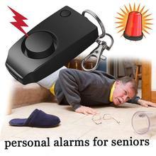 Coureur alarme personnelle auto-défense SOS alarme personnelle durgence poignet de sécurité fort 120dB cri anneau pour clé de nuit en cours dexécution D3O8