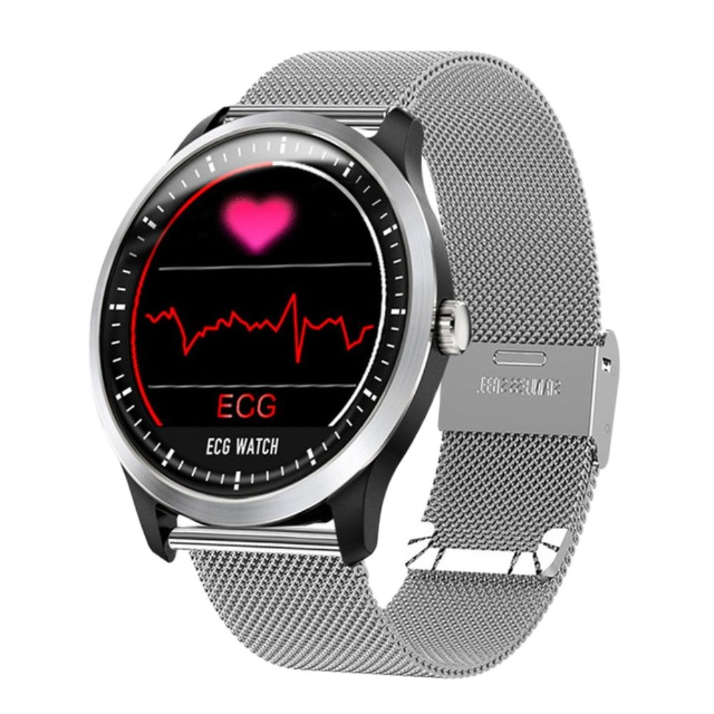 N58 ECG PPG ساعة ذكية مع تخطيط القلب تخطيط القلب عرض هولتر ecg مراقب القلب ضغط الدم النساء سوار ذكي