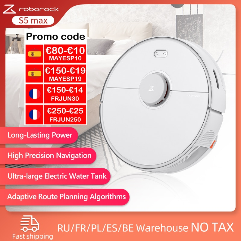 2021 Global Version Roborock S5 Max Robot Vacuum Cleaner WIFI APP Control Automatic Smart Mopping Vacuum Cleaner for Home