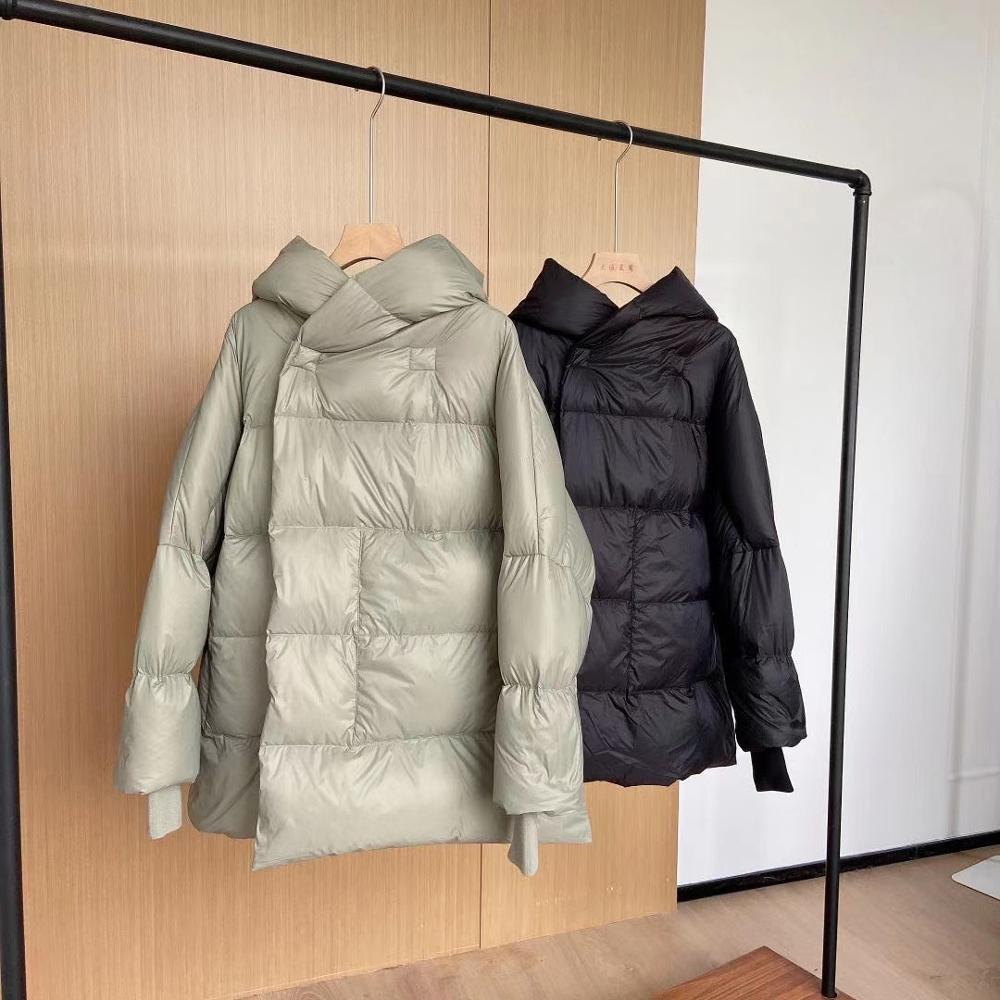 Короткий пуховик для женщин, новинка зимы 2021, 90% белый утиный пух, теплая и мягкая модная однотонная зимняя куртка