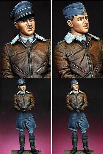 Kit sin pintar 1/16 de 120mm de la Luftwaffe Ace Werner Molders 120mm figura histórica resina Kit