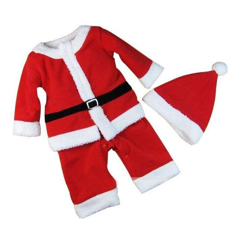Disfraz de Papa Noel para niños, conjunto de ropa de Cosplay, para...