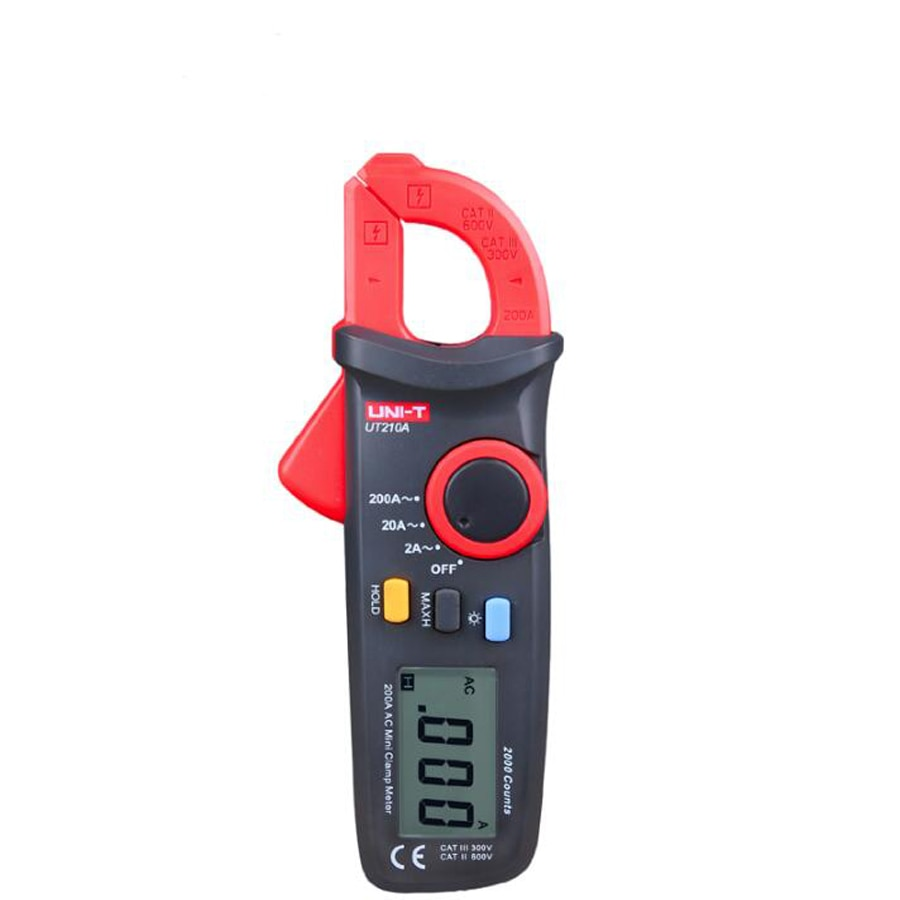 UNI-T UT210A 200A 2000 Conuts мини LCD электрические профессиональные многофункциональные высокочувствительные токовые клещи