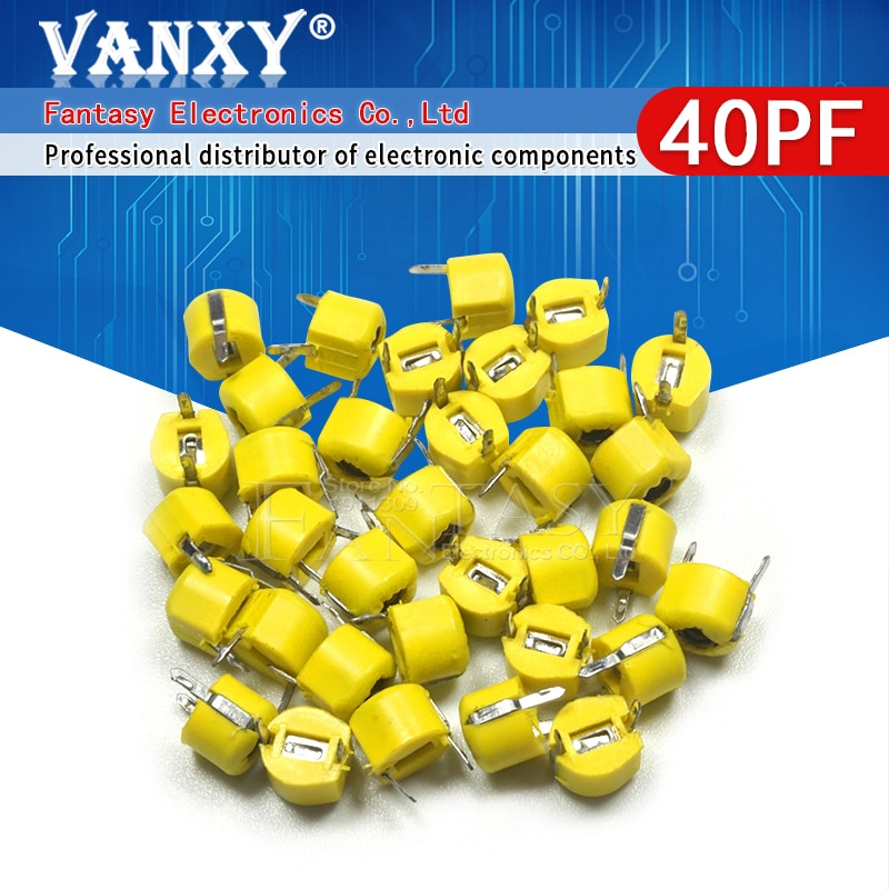 20 pces 40p 40pf 6mm JML06-1 dip trimmer capacitor ajustável
