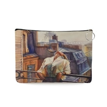 Modern Lady Paiting Pattern Women Cosmetic Bags Fashion Canvas Clutch Casual Travel Portable Makeup
