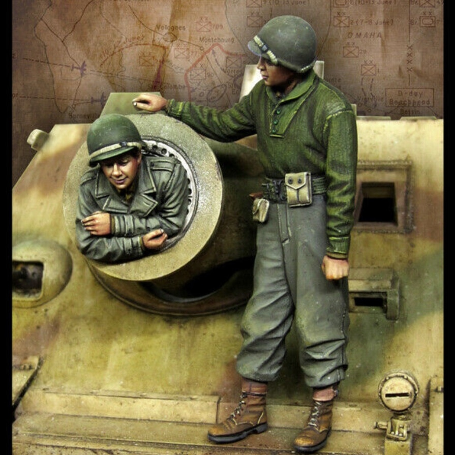 1/35 Resin Model Figure GK, Military theme ,Unassembled and unpainted kit