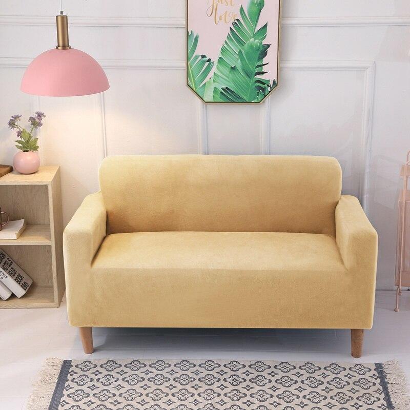Funda de sofá de felpa gruesa, fundas de sofá con todo incluido para sala de estar, funda de sofá suave, funda de toalla, 1/2/3/4 plazas
