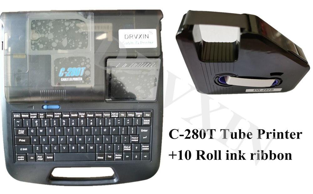 Cable de C-280T, impresora I.D, pantalla en inglés, se puede conectar a una máquina de impresión de virolas de letras electrónicas