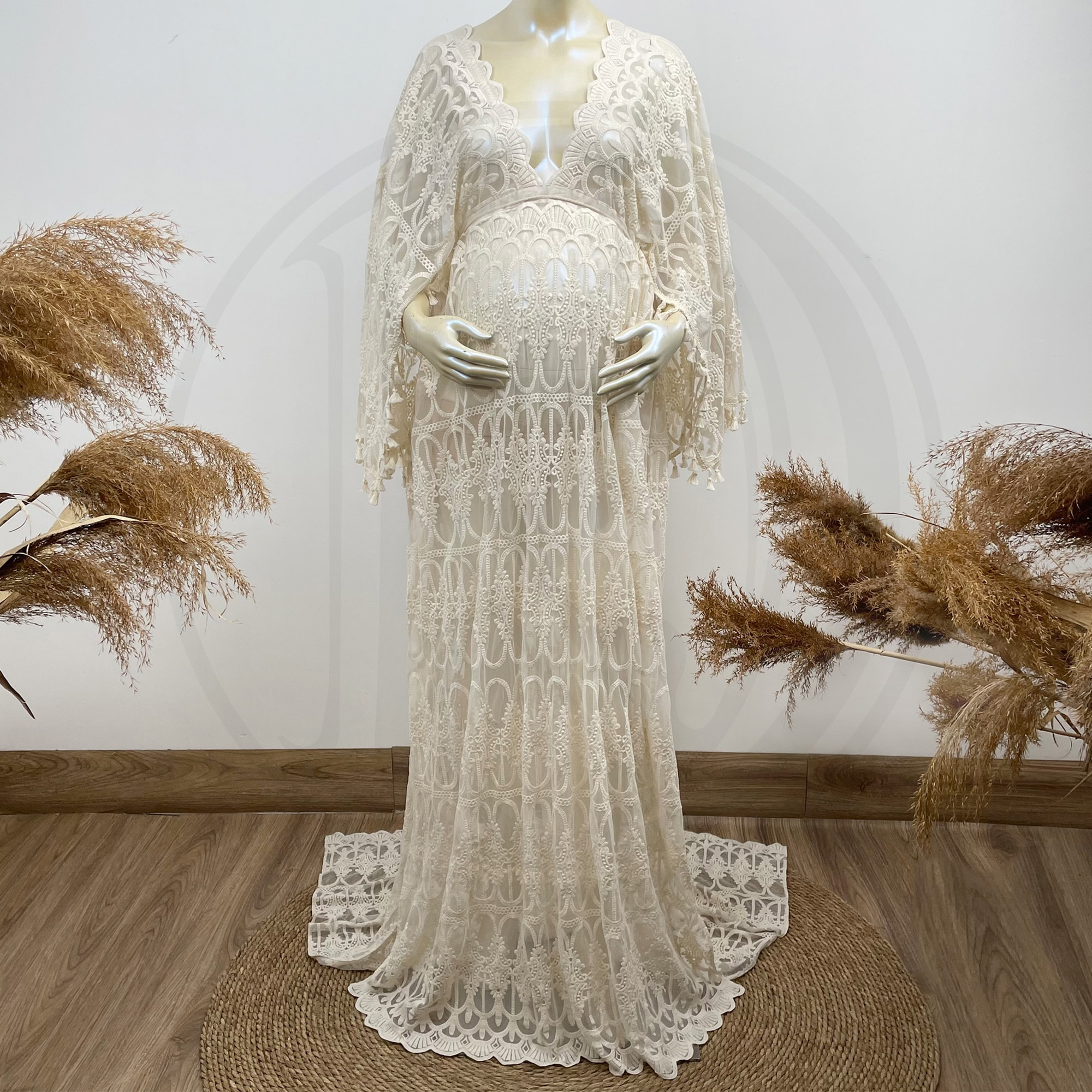 Don&Judy Boho Tulle Embroidery Maternity Dress for Photography Custom Made Pregnancy Tassels Dress Photo Shoot Party Prom Gowns enlarge
