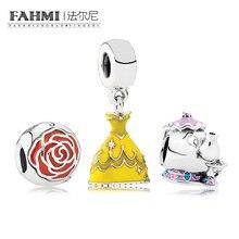 FAHMI CPPO 100% 925 argent Sterling beauté et la perle coffret cadeau fit breloques Bracelets originaux bijoux un ensemble