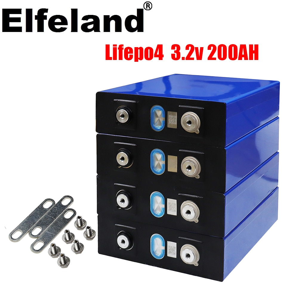2021 brand new Lifepo4 3.2v200ah rechargeable battery 3.2v 200ah battery, suitable for 12v200ah solar system, etc. tax free