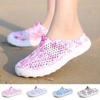 summer womens sandals breathable flat clogs lightweight beach slippers durable non slip wading upstream sandalias al aire libre