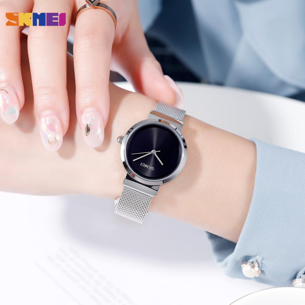 SKMEI Simple Japan Quartz Movement Female Clock Waterproof Ladies Wristwatch reloj mujer Women Girls Watches 5 Kinds Color enlarge