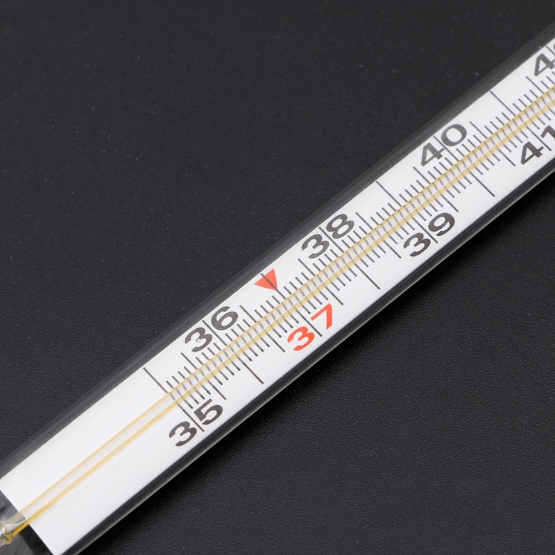 Mercury Glass Thermometer Large Screen Clinical Medical Temperature Household Health Monitors Health Care Thermometers