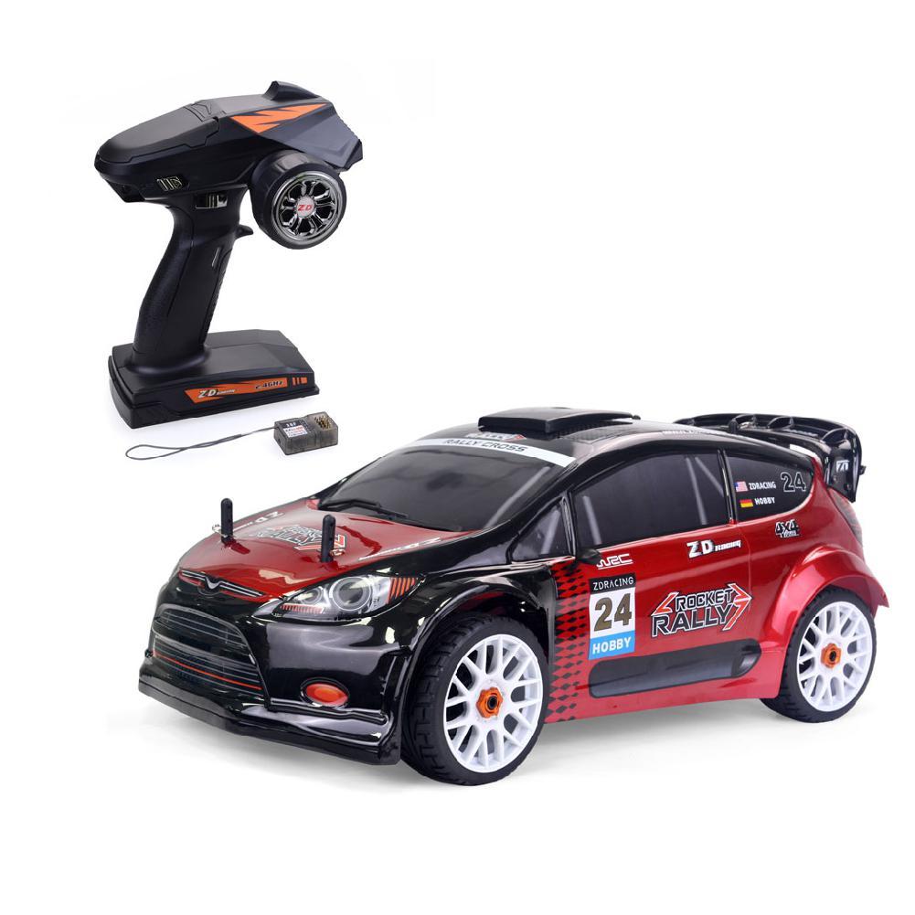 80km/h zd racing 1/8 escala 4wd brushless carro de rali elétrico