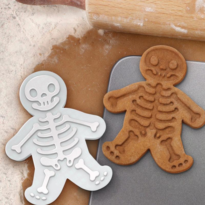 Creative Skull Sugar Stamp Cookie Cutters Gingerbread Man Biscuit Mold DIY Kitchen Utensils Biscuit Press-on Maker Kitchen Tools