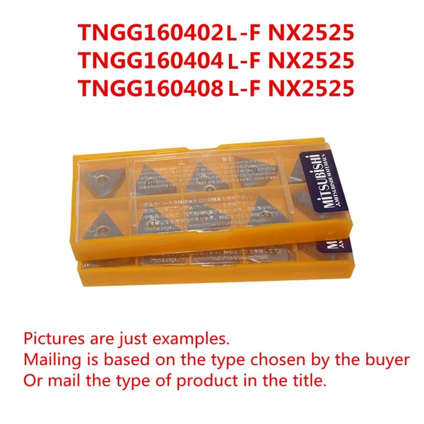 NX2525 نك تحول سيرميت إدراج جديد الأصلي شحن مجاني ميتسوبيشي TNGG160402L-F NX2525/TNGG160404L-F NX2525/TNGG160408L-F