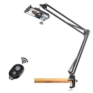 Neewer Overhead Video Stand Phone Mount Table Top Scissor Arm Stand/Phone Clamp/Remote Control for Baking Crafting Demo Drawing