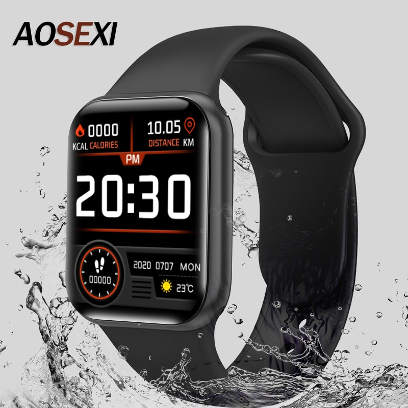 """New X12 Smart Watch Men Women 1.57"""" Fitness Tracker Full Touch Screen Ip67 Waterproof Heart Rate Monitor for iOS Android Xiaomi"""