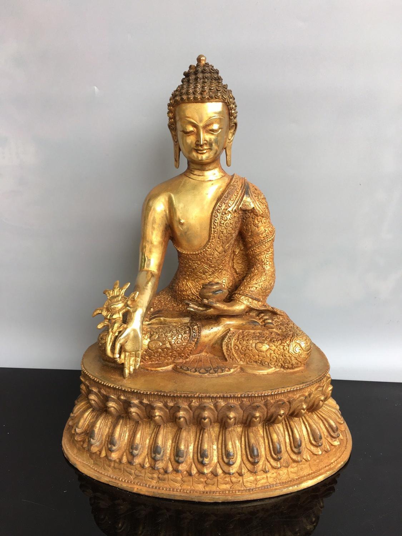 Decoración de la boda de China riqueza auspicioso rojo estatua de Guanyin Buddha estatua de Bodhisattva Guanyin chico de oro Jade estatua