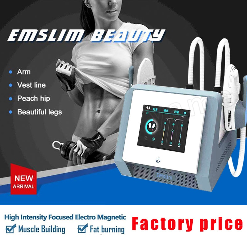 Free Shipping Factory Sale HIEMT Emslim Electromagnetic Muscle Stimulator Sliming Device EMS No Pain