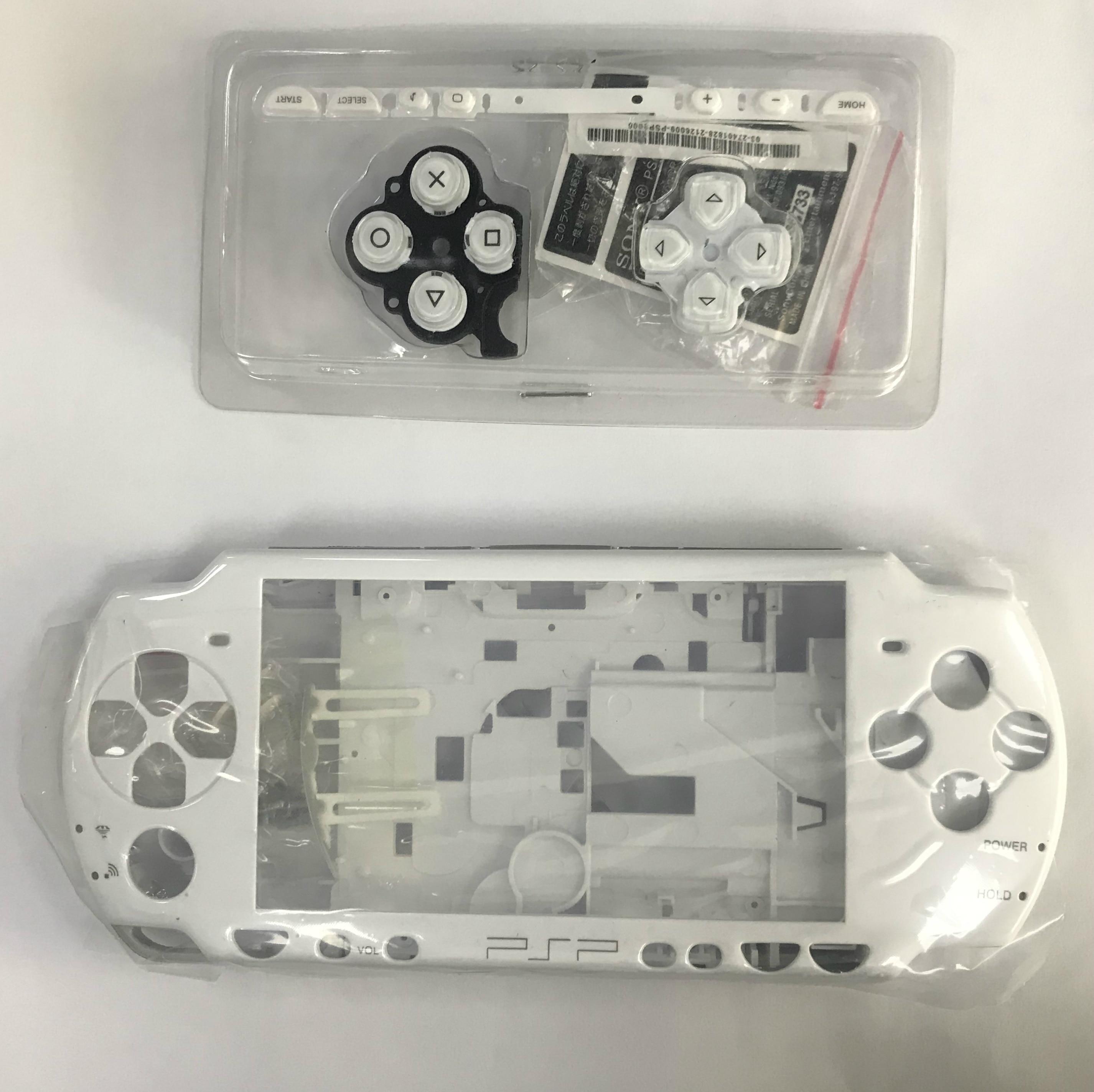 Para PSP caso carcasa negra y blanca cubierta de Shell para el PSP 2000 1000 consola 3000 Shell con botones kit