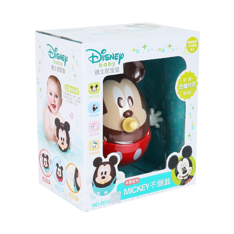 Disney genuine Mickey baby tumbler toy puzzle rattle hand can bite teether enlarge