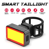 4Style Gravity Sensing LED USB Rechargeable COB Smart Brake G-sensor Rear Light Taillight Bike Lights Lamp