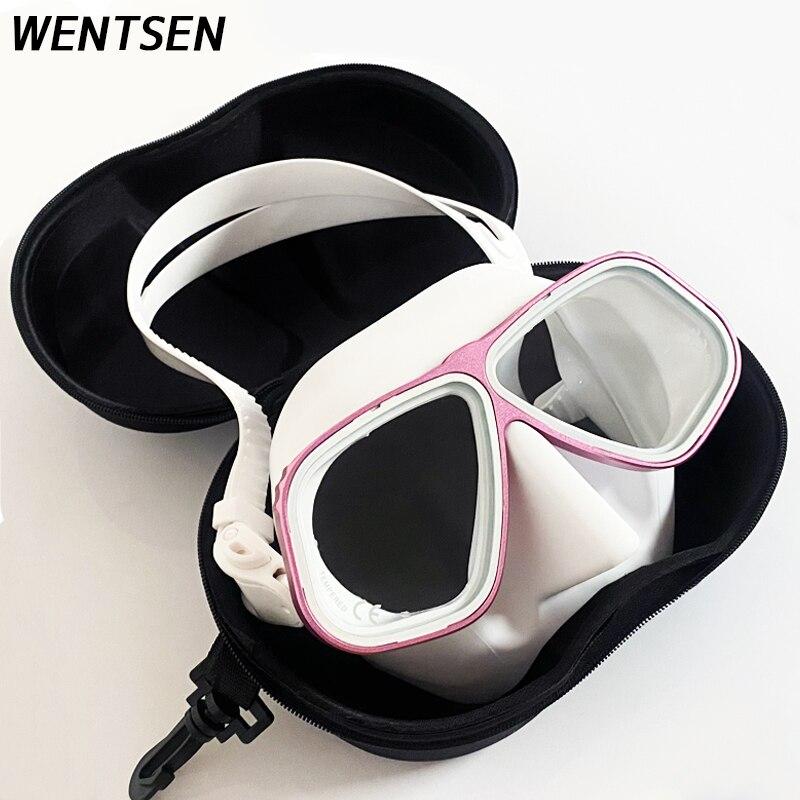 Novo high-end livre máscara de mergulho banhado a ouro óculos quadro ultra baixo volume equipamento de snorking subaquático mergulho divisor livre