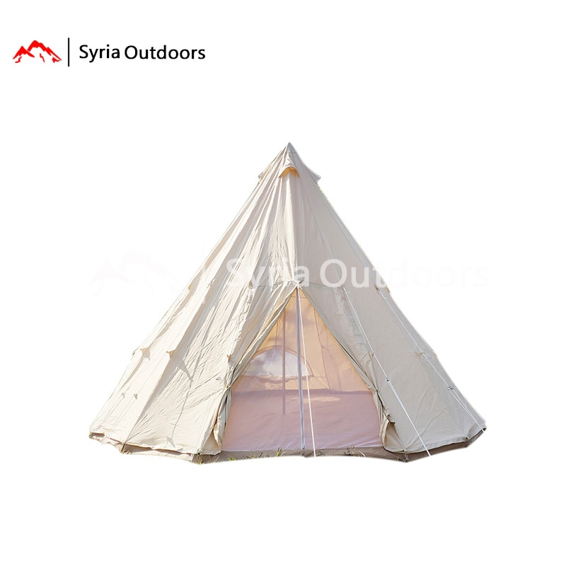 Carpa indígena de algodón 12,6 Ω Elf, lona de algodón para acampar, carpa para invitados famosa, camping al aire libre, cálido, grueso y resistente a la lluvia