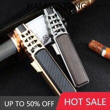 Windproof direct spray gun cigar welding gun Kitchen Baking metal inflatable customized lighter