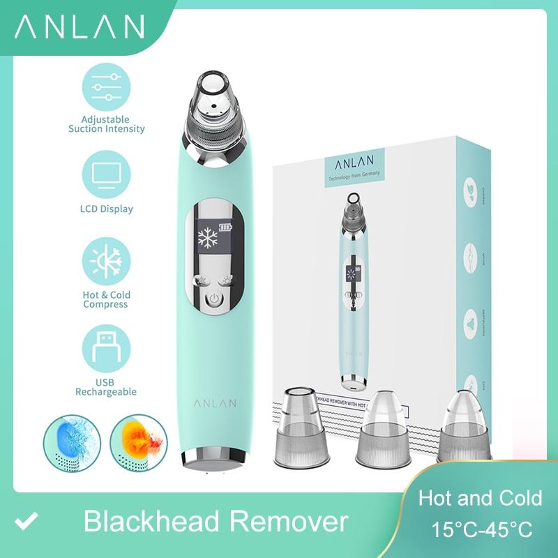 ANLAN Вакуумный очиститель прибор для удаления угрей черных точек, горячий и холодный очиститель для лица, глубокое очищение поры, акне, Удаление прыщей, вакуумное всасывание, инструмент для красоты, уход за кожей лица