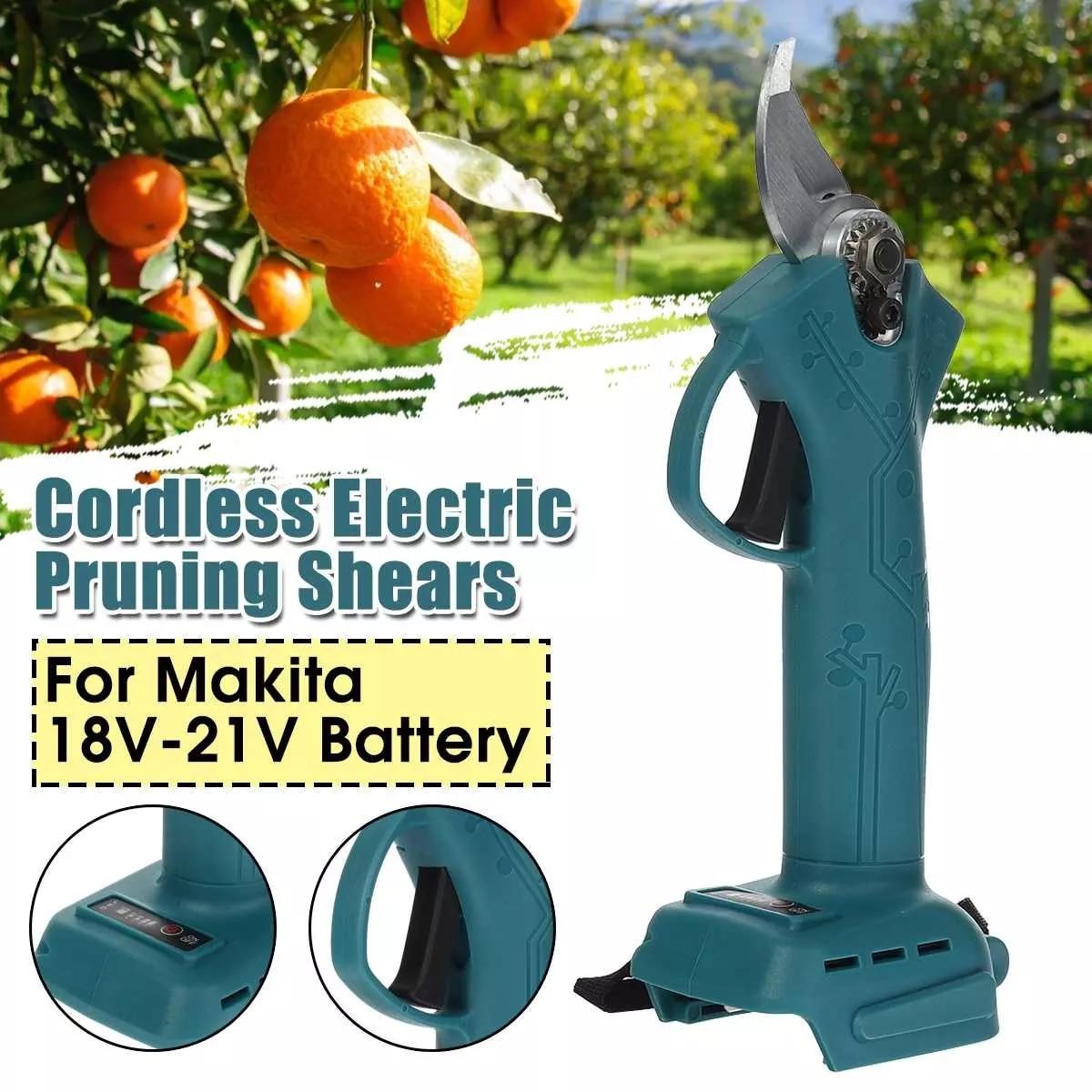 مقصات تشذيب كهربائية مقصات تشذيب لاسلكية أدوات حديقة لبطارية ماكيتا 18 فولت-21 فولت (غير متضمنة) قطاعة قابلة للشحن