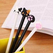 10 pièces stylos Gel griffe de chat nouveauté mignon stylo Kawaii Kawaii papeterie stylos Gel Signature étudiant stylos mignon fournitures de bureau étudiant