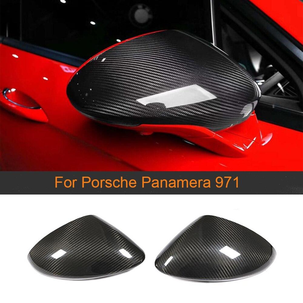 Carbon Fiber Rearview Mirror Cover Cap for Porsche Panamera 971 2017 - 2019 Side Mirror Cap Shell Add On