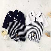 Children's New 2021 Spring And Autumn Boys' Lapel Jumpsuit Infant Boys' Jumpsuit Infant Boys' Sweate