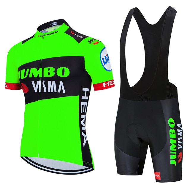 2020 Lote Jumbo visma radfahren jersey Pro team lotto top qualität mens fahrrad maillot sommer mtb quick dry bibshort bike kleidung