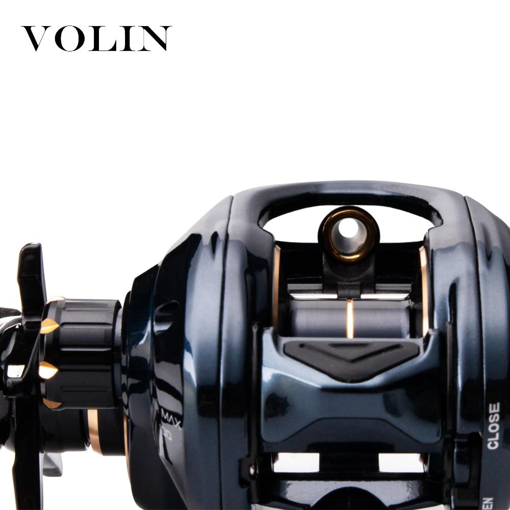 Volin New Baitcasting Fishing Reel  Magnetic Brake 10+1 BB  8.1:1 Aluminum Spool Metal Handle Soft Rubber Knob Max Drag 6KG 176g enlarge